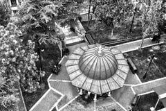 从清真寺尖塔的看法 库存照片