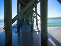 从渔码头下面的看法 免版税库存照片