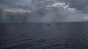 从游轮的看法向海,愉快,海洋,远航轮渡 股票录像
