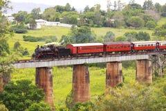 从澳大利亚的蒸汽火车 图库摄影