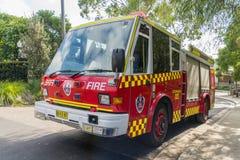 从火和抢救NSW的消防车 免版税库存照片