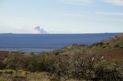 """从火山KÄ的烟云""""lauea 免版税库存照片"""