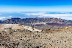 从火山Pico El泰德峰的看法 免版税库存照片