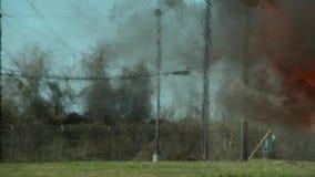 从火焰喷射器的火焰舌头 火背景  影视素材
