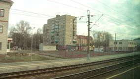 从火车窗口的看法在秋天 股票录像