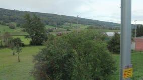 从火车窗口的网球场 影视素材