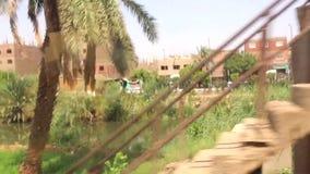 从火车HD录影的阿斯旺埃及 股票录像