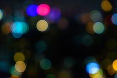 从灯的Bokeh颜色在资本 免版税库存图片