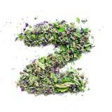 从烘干的信件Z英语字母表清凉茶  库存图片