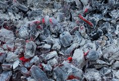 从煤炭燃烧的背景  库存图片