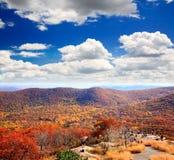 从熊山的顶端叶子风景 库存照片