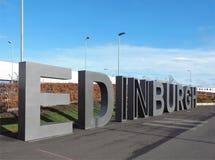 从爱丁堡的氖 免版税库存照片