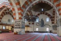 从爱迪尔内老清真寺的内部细节 Eski清真寺是15世纪初无背长椅清真寺 图库摄影