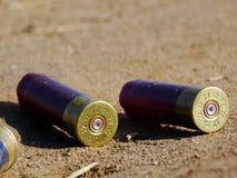 从狩猎步枪的壳框 库存照片