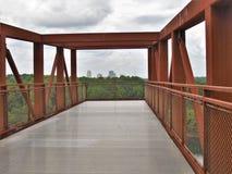 从猎物公园观察台的温斯顿萨兰姆地平线 库存图片