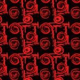 从玫瑰和几何样式的无缝的样式 库存例证