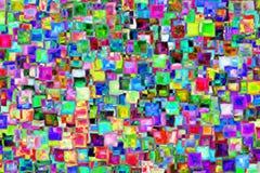 从玻璃正方形的光栅抽象 免版税图库摄影
