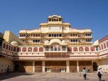 从琥珀色的堡垒的场面,在阿格拉,印度 免版税库存图片