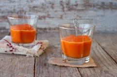 从甜南瓜,可口点心的纯汁浓汤 自创南瓜pu 库存图片