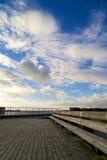 从甲板的Oresund桥梁 免版税图库摄影