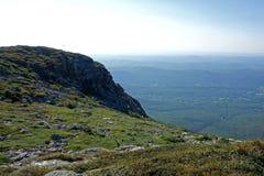 从登上曼斯菲尔德的山顶视图对西方 图库摄影