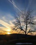 从登上Greylock的日落在马萨诸塞 库存图片