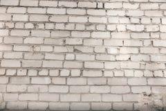 从白色砖的墙壁背景 库存图片