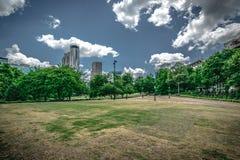 从百年奥林匹克公园的看法在亚特兰大,乔治亚 库存图片