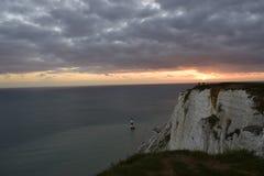 从的美好的日落峭壁 免版税库存照片