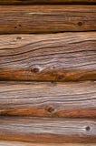 从的背景老棕色日志 免版税库存图片