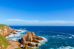 从石峰监视,菲利普海岛,维多利亚,澳大利亚的看法 库存照片