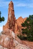 从科罗拉多落矶山的风景场面 在神的庭院的红色岩层 免版税库存照片