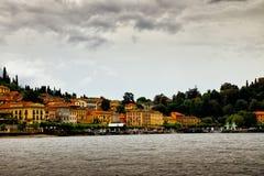 从科莫湖,意大利的贝拉焦 免版税库存图片