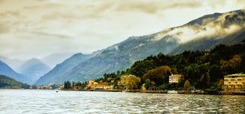 从科莫湖,意大利的贝拉焦 免版税图库摄影
