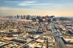 从空气的迪拜视图 免版税库存图片
