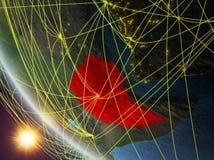 从空间的埃塞俄比亚与网络 库存例证