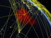 从空间的埃塞俄比亚与网络 皇族释放例证