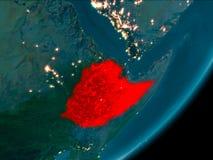从空间的埃塞俄比亚在晚上 皇族释放例证