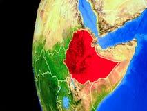 从空间的埃塞俄比亚 皇族释放例证