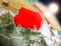 从空间的苏丹在日出期间 免版税图库摄影