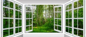 从窗口的日出视图 免版税库存图片