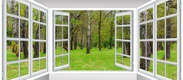 从窗口的日出视图 免版税图库摄影