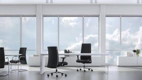 从窗口的看法在skyskraper的营业所在多云天空 背景板材,色度关键录影背景 股票视频