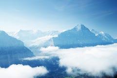 从第一座山的顶端格林德瓦谷 库存图片