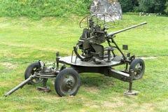 从第二次世界大战时的高射炮 图库摄影
