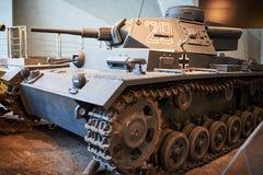 从第二次世界大战的一辆老德国坦克 免版税库存图片