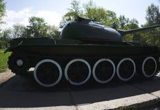 从第二次世界大战的俄国减速火箭的坦克 免版税库存照片