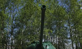 从第二次世界大战的俄国减速火箭的坦克 库存照片