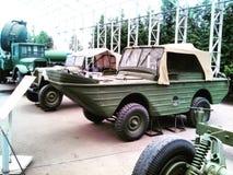 从第二次世界大战的军车在一个博物馆在莫斯科 免版税图库摄影