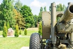 从第二次世界大战的火炮大炮 库存图片